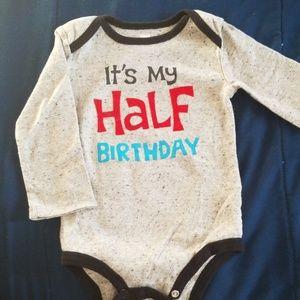 Half birthday body suit